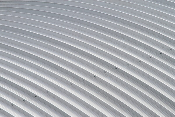 corrugated iron curved roof