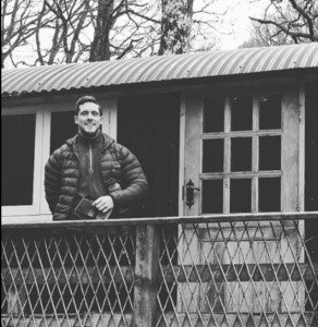 ben tiny eco home life outside shepherds hut