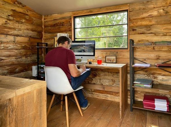 shepherds hut home office timeless spaces