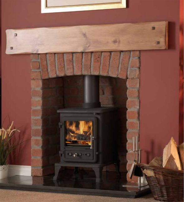 firefox multi fuel small stove log burner defra approved