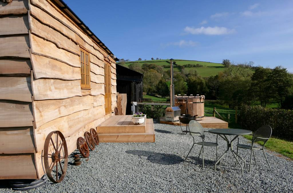 aethers hilt cabin with wood fired hot tub shropshire