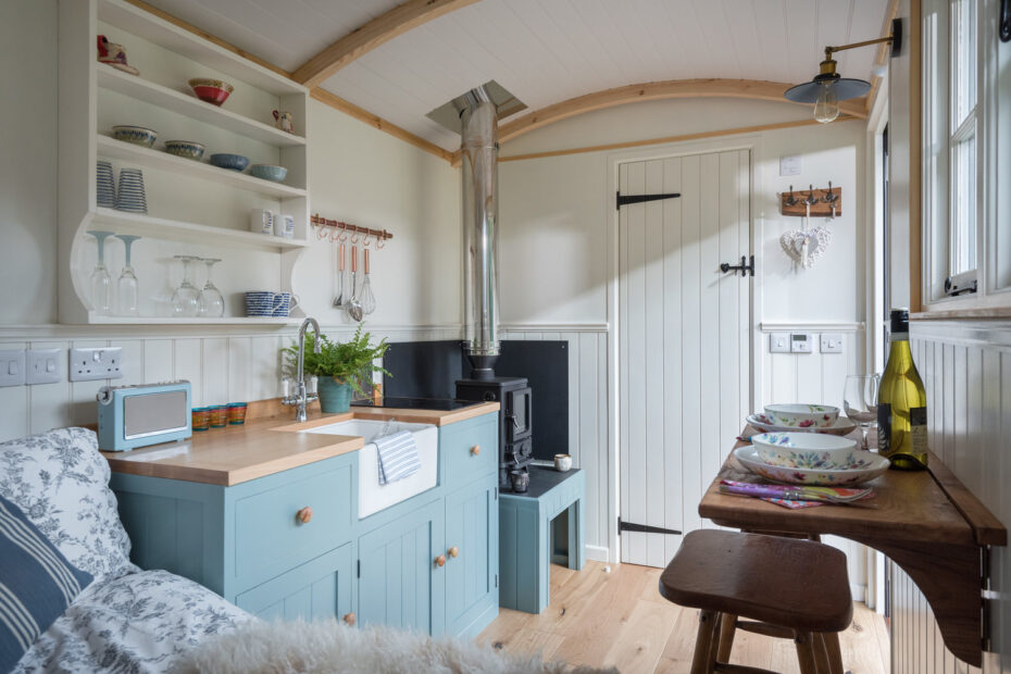 shepherds hut interior pumphrey and weston