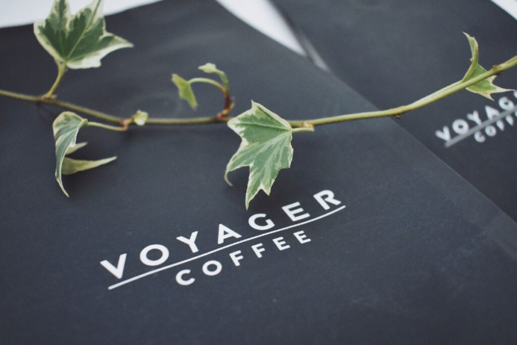 voyager coffee packaging made from plant starch