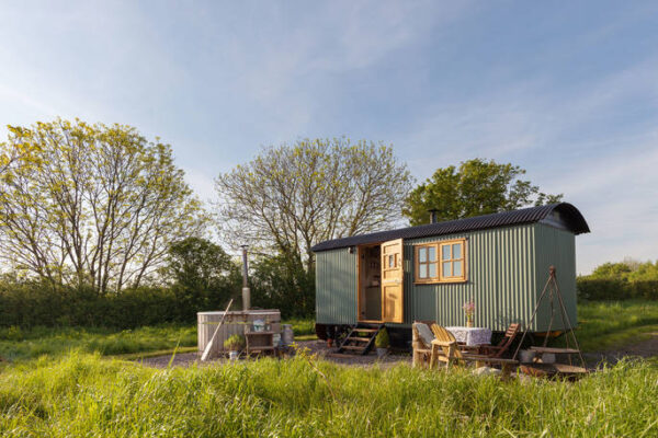the pleasant pheasant shepherds hut for a cosy winter holiday uk