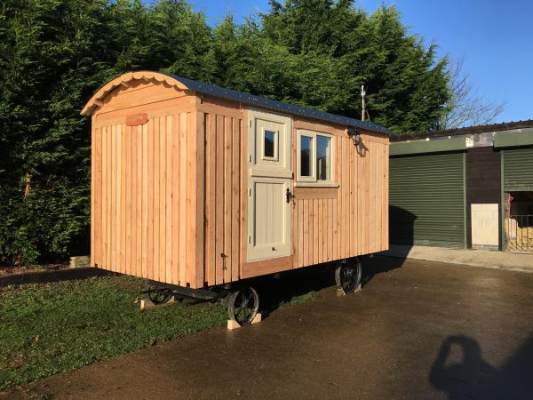 second hand shepherd's hut for sale wooden exterior on preloved