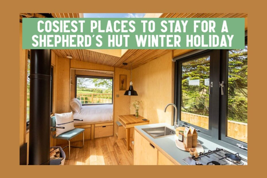 shepherds hut winter holiday