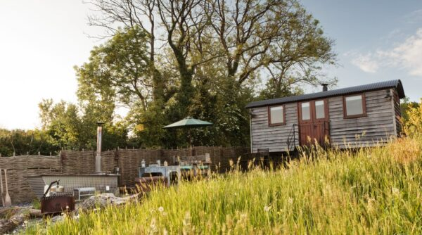 tor view shepherds hut ideal for a winter holiday