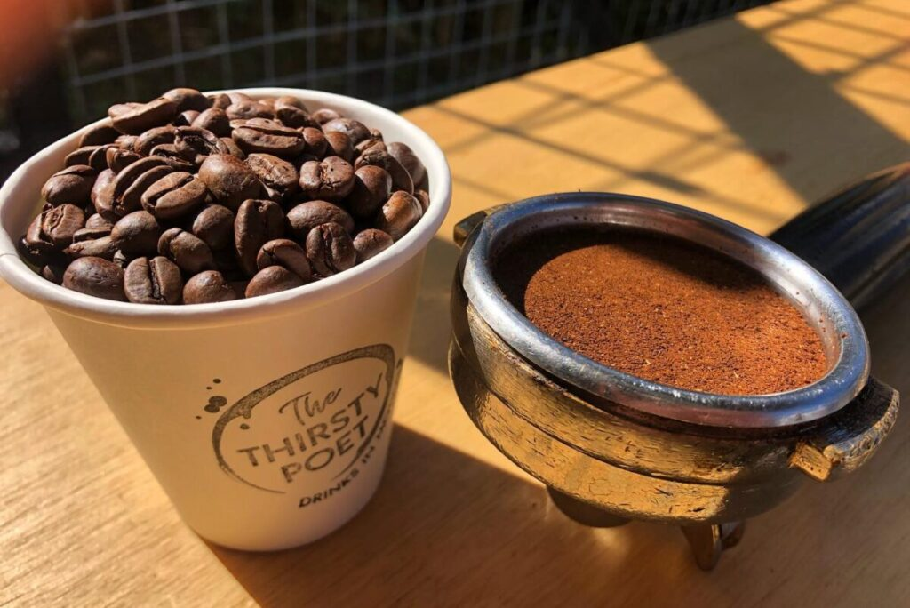 thirsty poet coffee beans and ground coffee