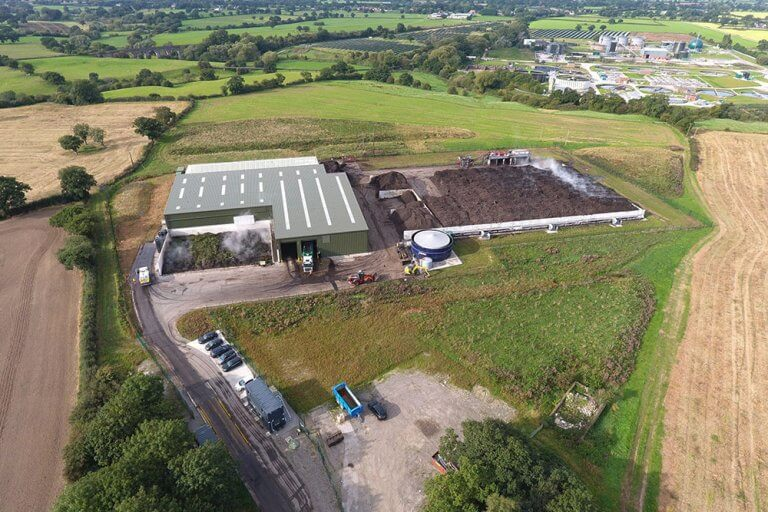 industrial composting facility in crewe