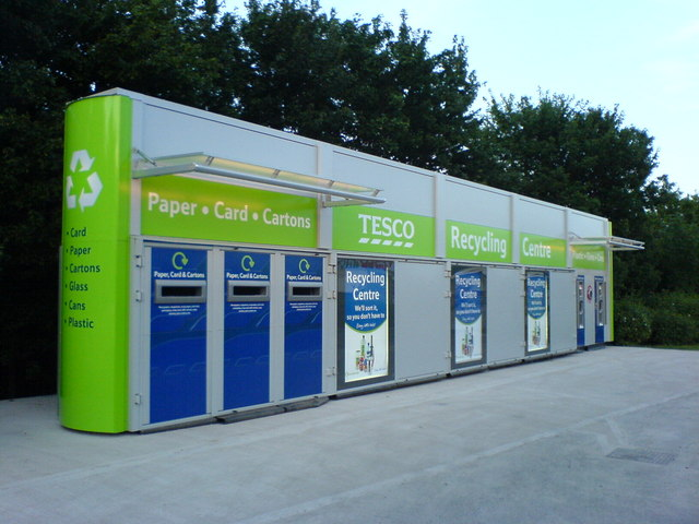 recycling station tesco