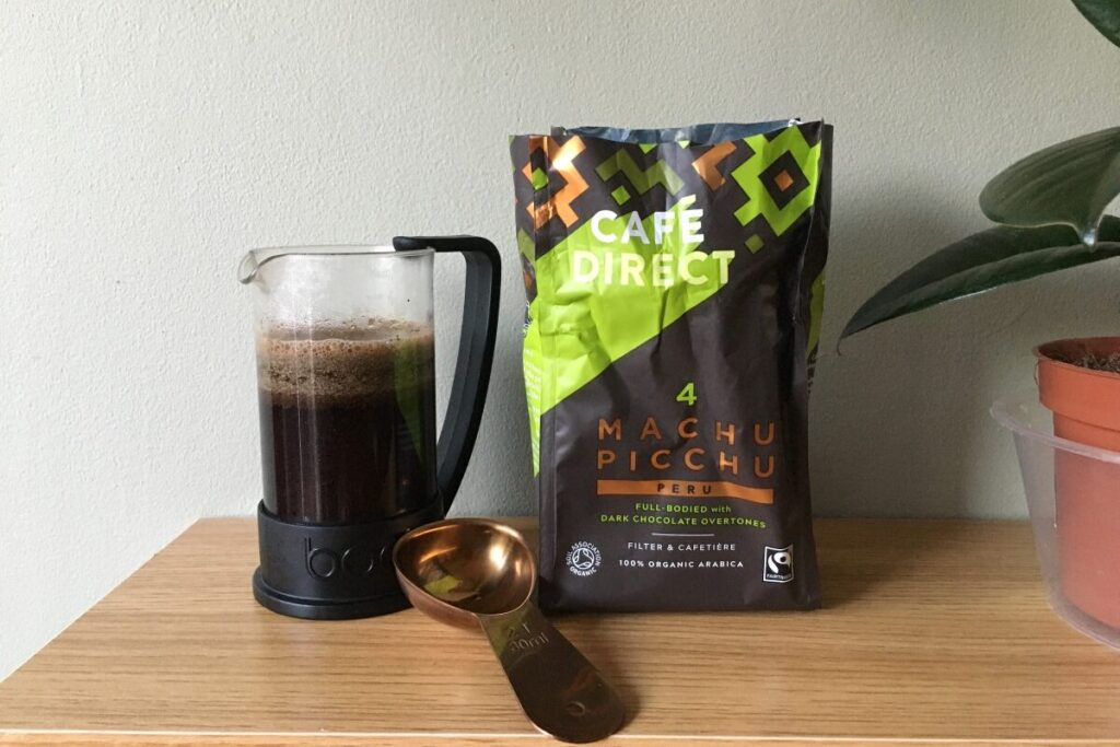 cafedirect machu picchu organic coffee and cafetiere filter