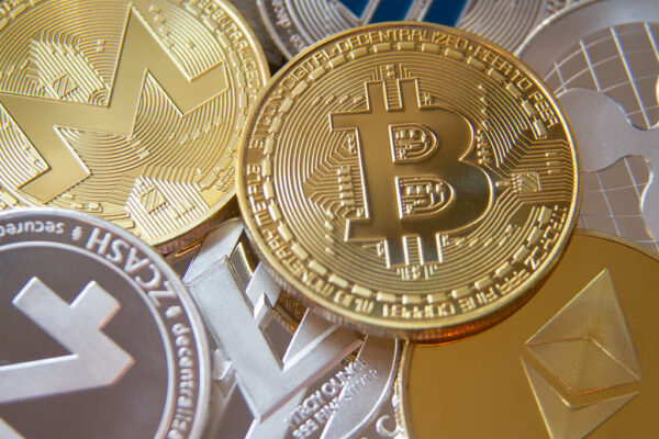 bitcoin gold coins and cryptocurrency