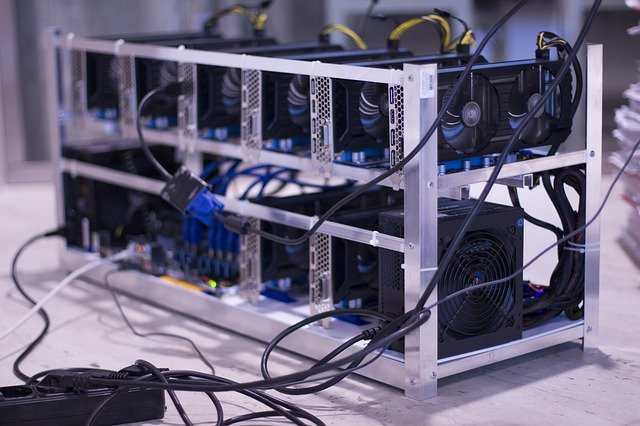 A small cryptocurrency mining farm